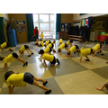 In PE we have been learning to balance.