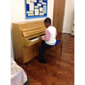 Elias played the piano to accompany us.