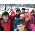 KS1 playtime in the snow.
