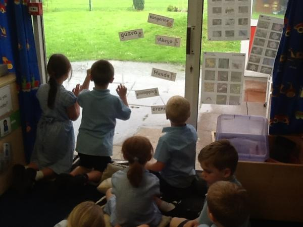 We loved sitting and watching the heavy rain