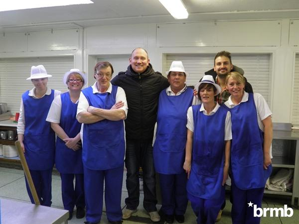 BRMB with the kitchen staff