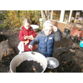 Baking in the mud kitchen