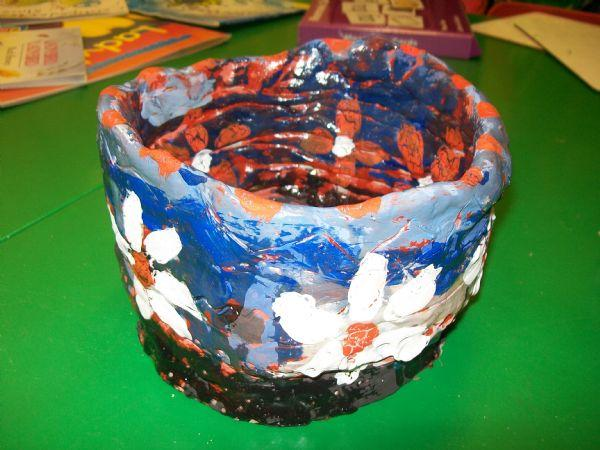 Clay pot created by Reception children
