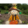 Our mini scarecrow