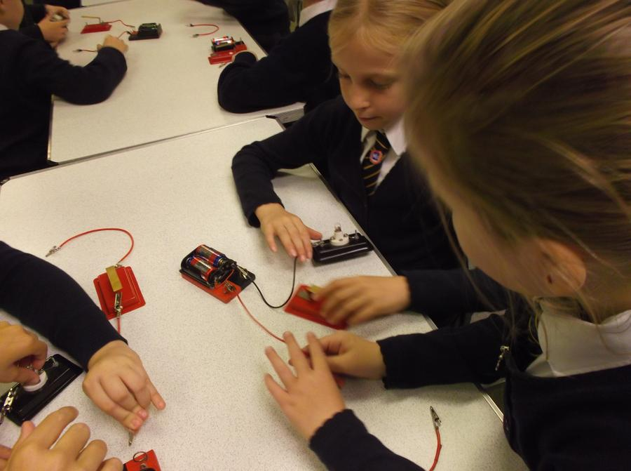Making circuits.