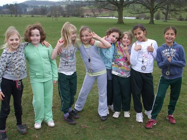 The Year 5 girls team.