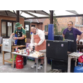 Busy at the BBQ!