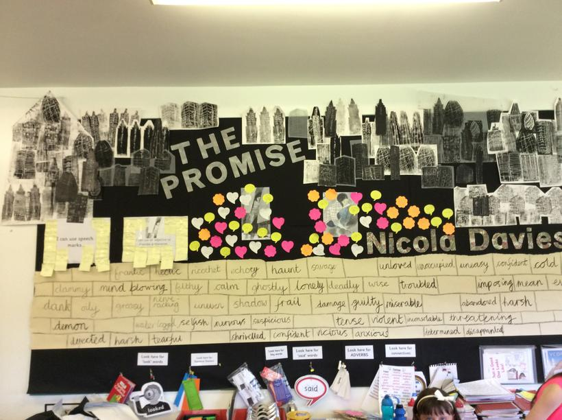 Our art work enhanced our Literacy work