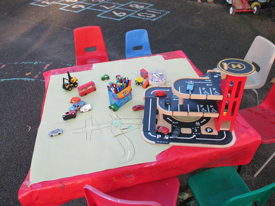 The children could draw a map for the cars.