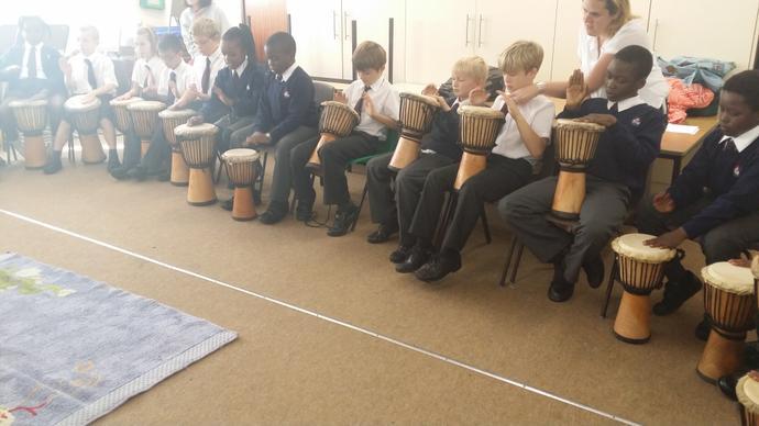 Djembe Drumming - Year 4