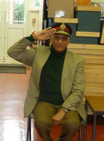 General Gupta saluting to the children