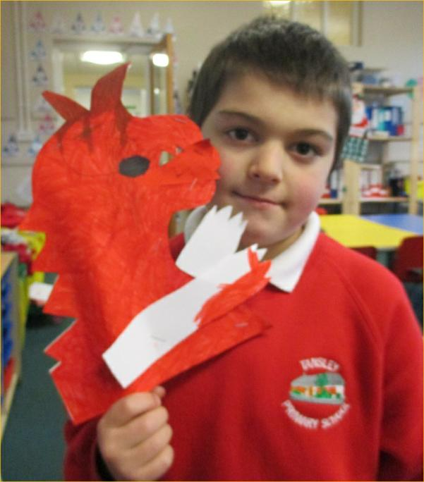 Sam has almost finished his wonderful dragon!