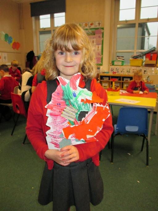 Libby made a fierce dragon