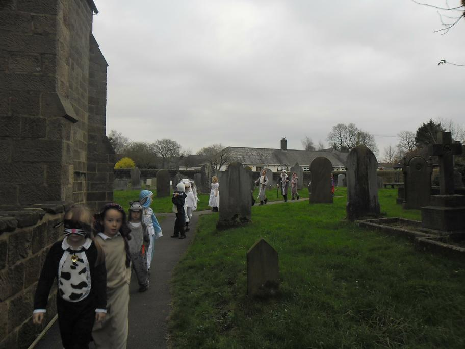 The children were so sensible walking to Church