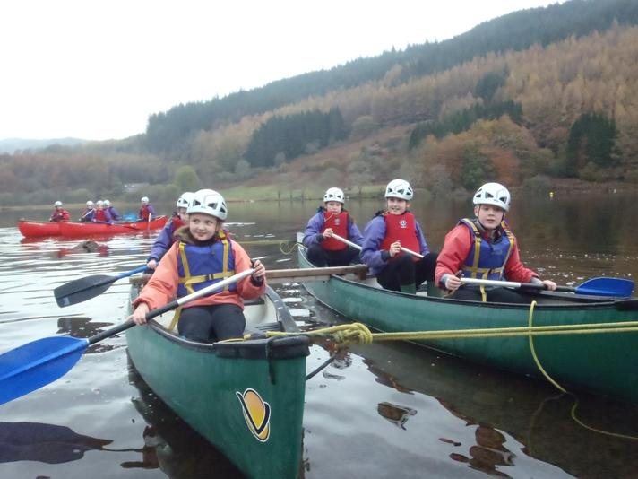 Our children canoeing at Oaklands, North Wales.