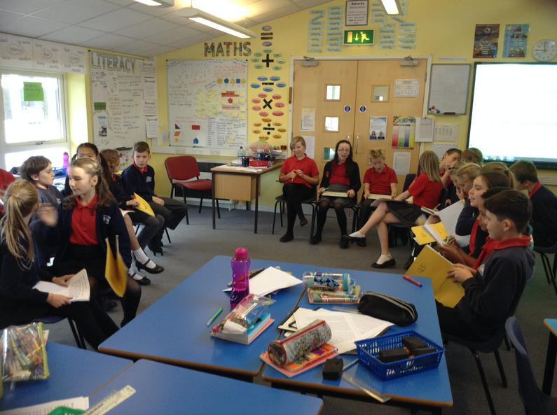 Mrs Tyson's Literacy Group held a debate