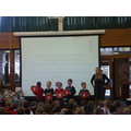 Reception sang a song about apples.