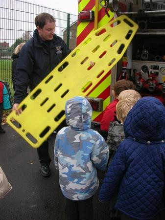 The fire service came to visit...