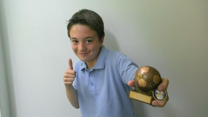 Evan - U10s football league WINNER!