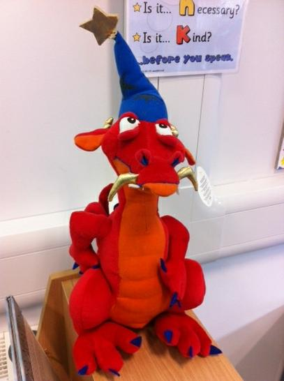 Here's 4SB's class pet - King Dragonite the 1st!