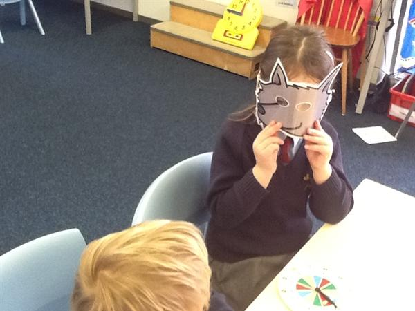 We played a game of 'What time is Mr Wolf?'