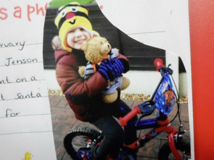 Jofli riding a bike!