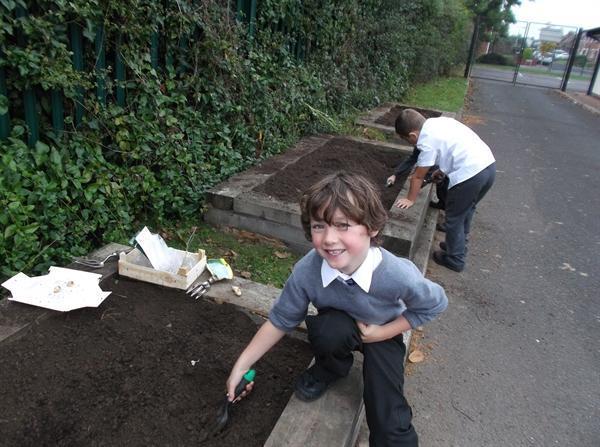 P3 love to garden!