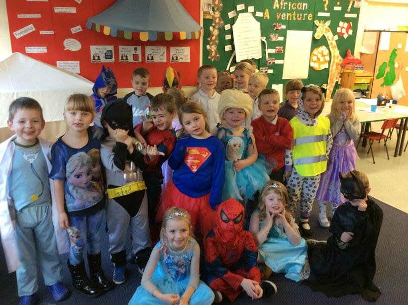 We dressed up to raise money for Children in Need!
