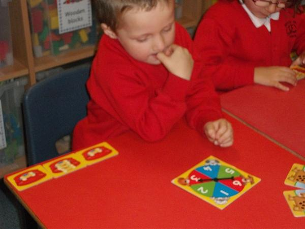Counting and recognising numbers in Reception