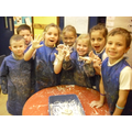 We had great fun making indoor snow!