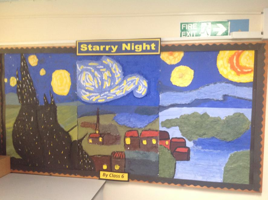 Year 6 were inspired by Vincent Van Gogh