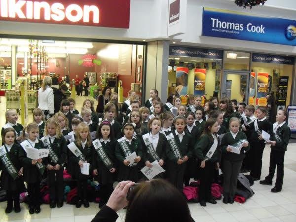At Christmas Bailey Green choir went carol singing