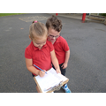 Working with a partner.