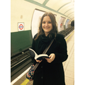 Miss Kiff reading on the London Underground!