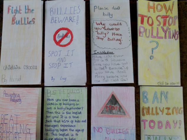 Year 6 have made anti bullying leaflets.