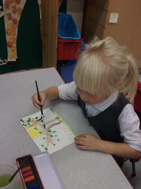 We used watercolours.