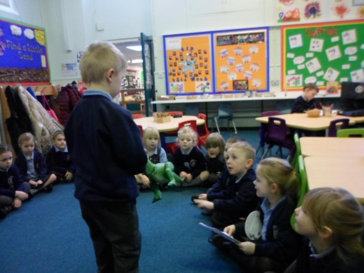 The children meeting Rex.