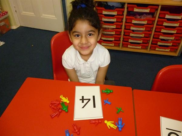 Learning about bigger numbers.