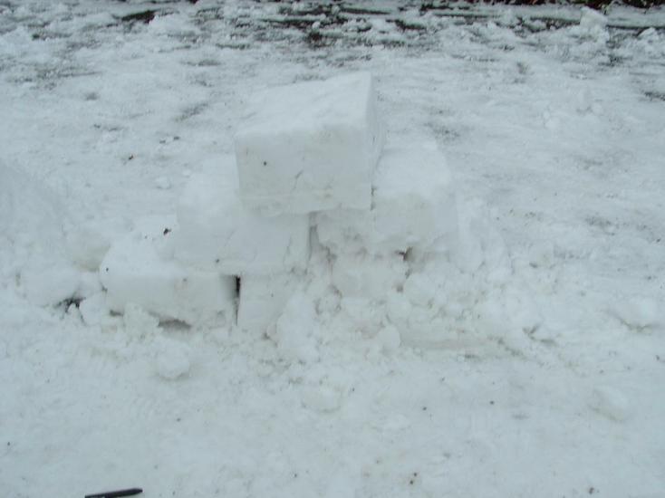 Snow pyramid.