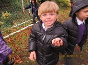 During this Autumn Term we have been very busy making new friends, exploring our new envrionment and trying hard to be more independent!  In the pictures below you can see we have been learning all about our changing world.  We went on an Autumn walk to find evidence of the changing seasons and we made our own seasonal trees!  We especially liked making our winter tree with all the sparkles and glitter! 6
