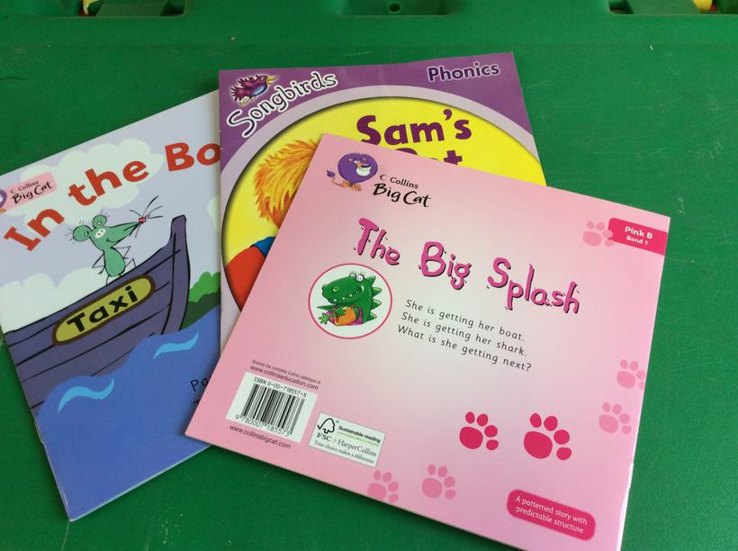 Pink Band reading books