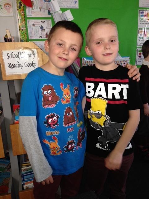 Bart and a Moshi Monster!
