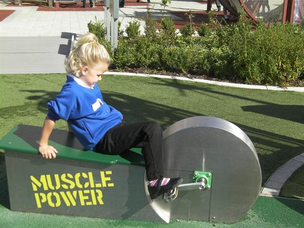 Using muscles to power a device.