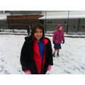 KS2 playtime in the snow.