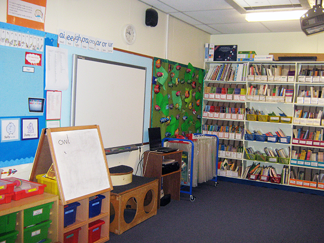 We use this room for Phonics and whole class work.
