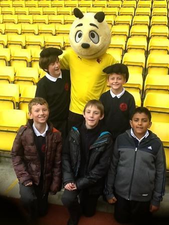 Year 6 Sports Crew visit Watford Football Club