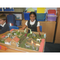 We all made different models to create a village