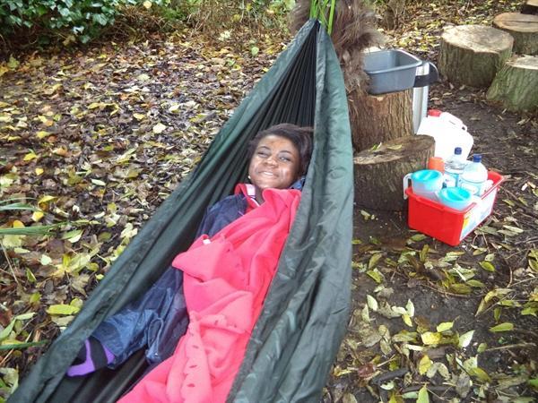 Chillin' in the hammock