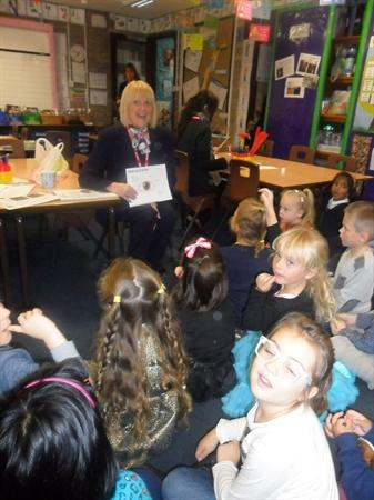Gail from Specsavers visited our class