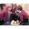 Exploring Victorian artefacts.